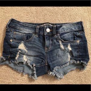 2 PAIRS of denim shorts